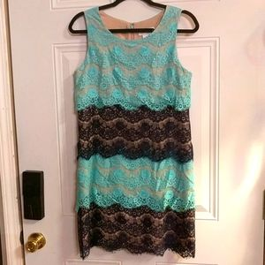 Jessica Simpson Blue Lace Dress